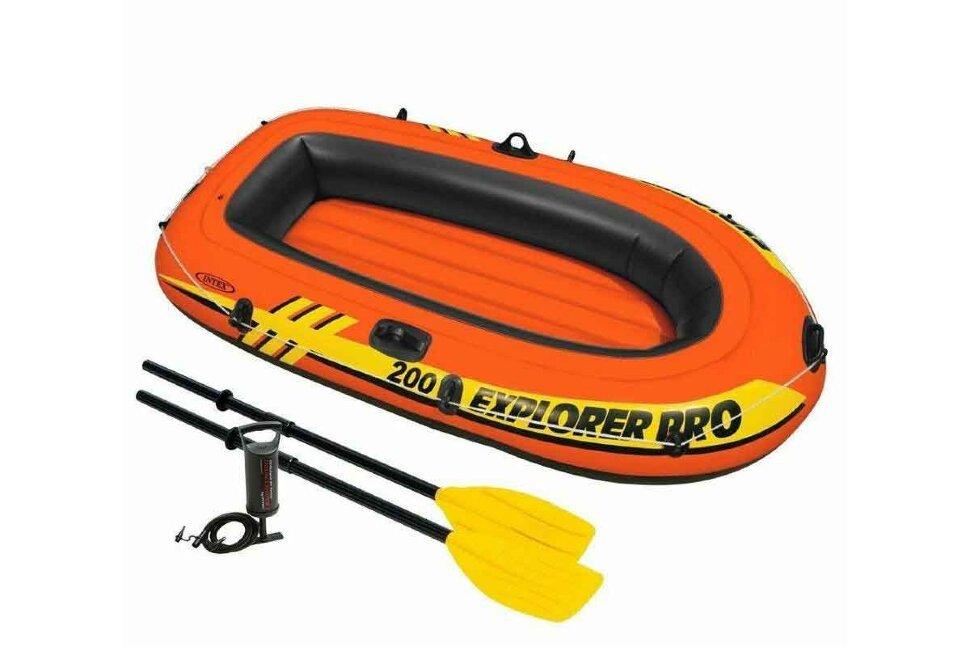"""Детская надувная двухместная лодка INTEX 58357 """"Set Explorer Pro 200"""" в Туле"""