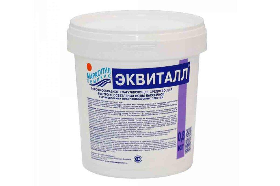 М43 Маркопул Кемиклс, ЭКВИТАЛЛ, 0.8 кг ведро, коагулянт(осветлитель) ударного действия в Новосибирске