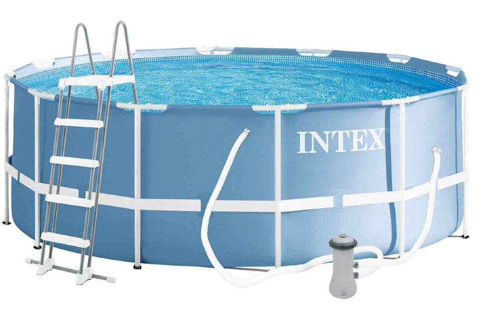 26718 Бассейн каркасный круглый INTEX 366х122 с лестницей, фильтрующей установкой в Барнауле