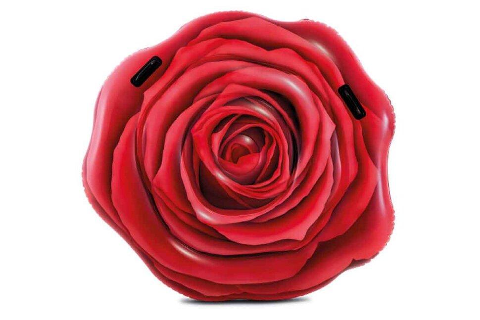 """Пляжный надувной матрас """"Красная роза"""" INTEX 58783 в Кемерово"""