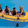 Четырехместная надувная лодка с веслами INTEX 68371