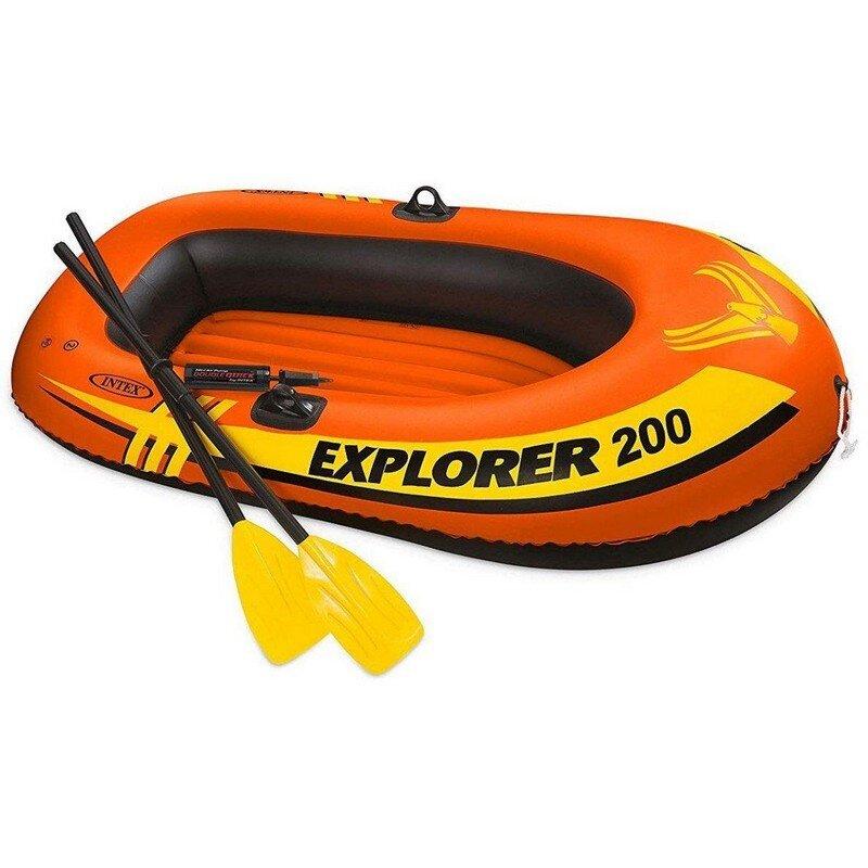 """Лодка надувная двухместная INTEX 58331 """"Explorer 200 Set"""" в Калуге"""