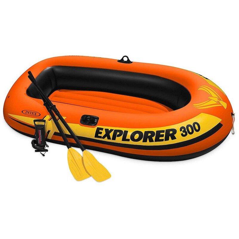 """Лодка надувная детская трехместная INTEX 58332 """"Explorer 300 Set"""" в Уфе"""