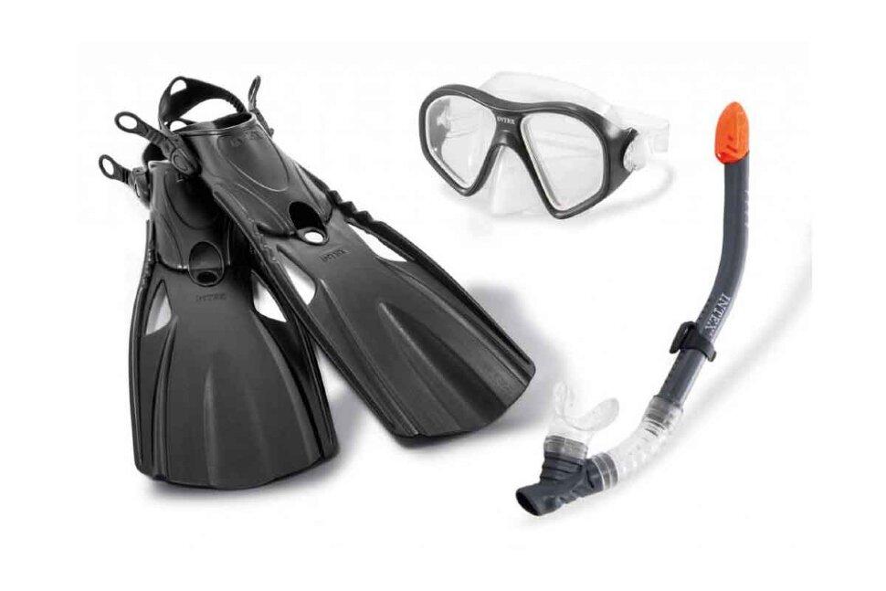 Комплект для плавания: маска, трубка, ласты INTEX 55657 в Санкт-Петербурге