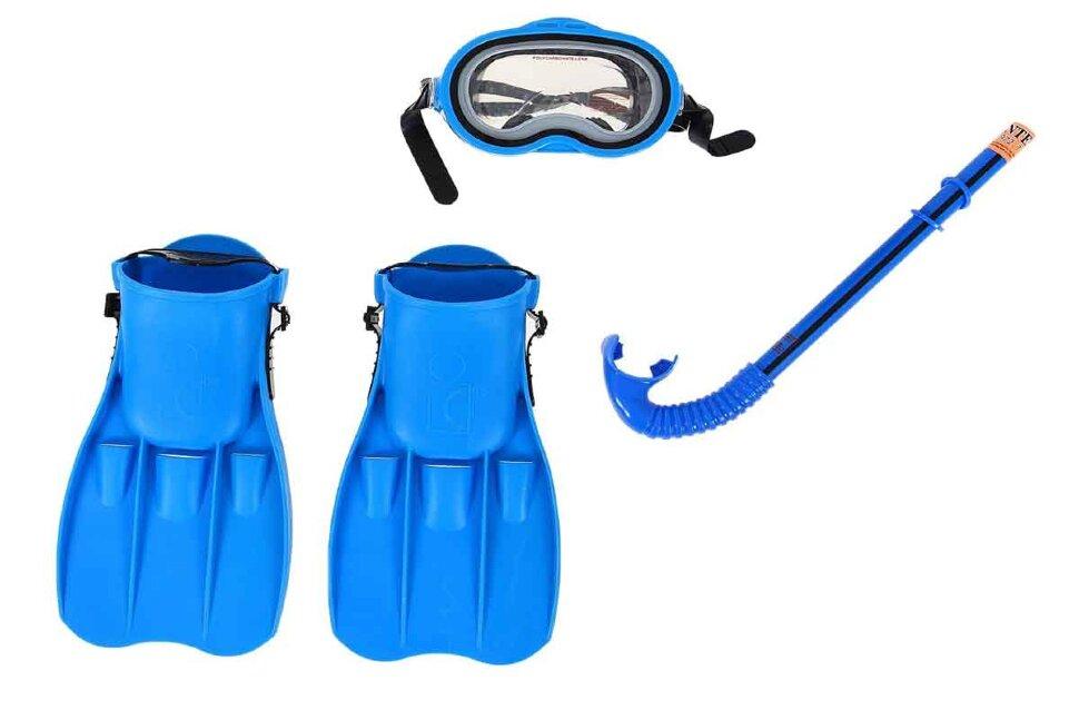 Комплект для плавания: маска, трубка, ласты INTEX 55952 В Красноярске
