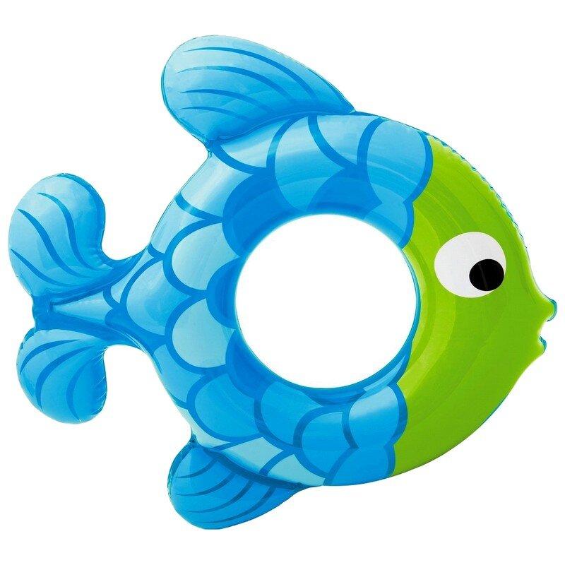 """Детский надувной круг """"Голубая рыбка"""" INTEX 59222 в Уфе"""