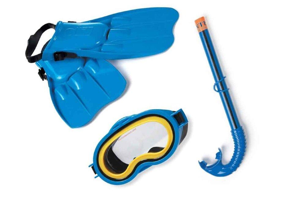 Комплект для плавания: маска, трубка, ласты INTEX 55953 в Оренбурге