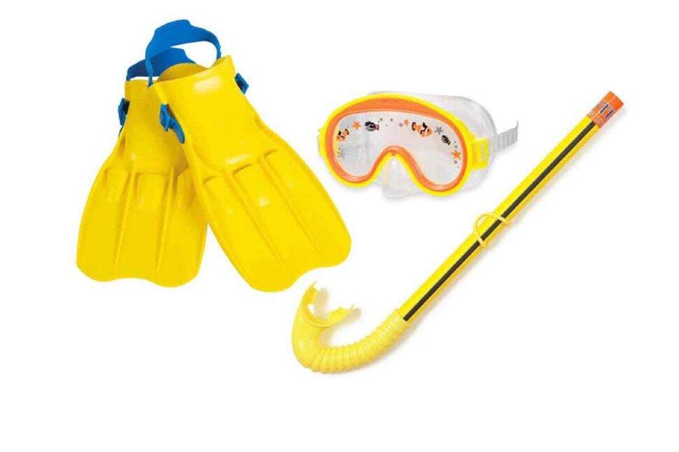 Комплект для плавания: маска, трубка, ласты INTEX 55951 в Клину