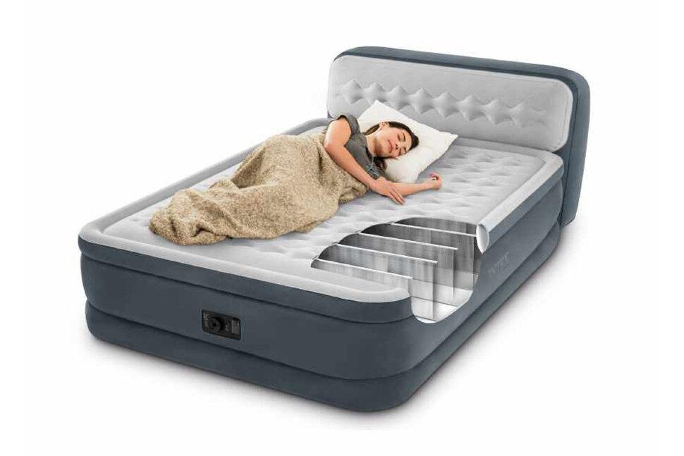 Двуспальная надувная кровать со спинкой INTEX 64448 в Калуге