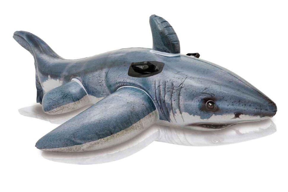 """Надувная игрушка """"Большая белая Акула"""" INTEX 57525 в Клину"""