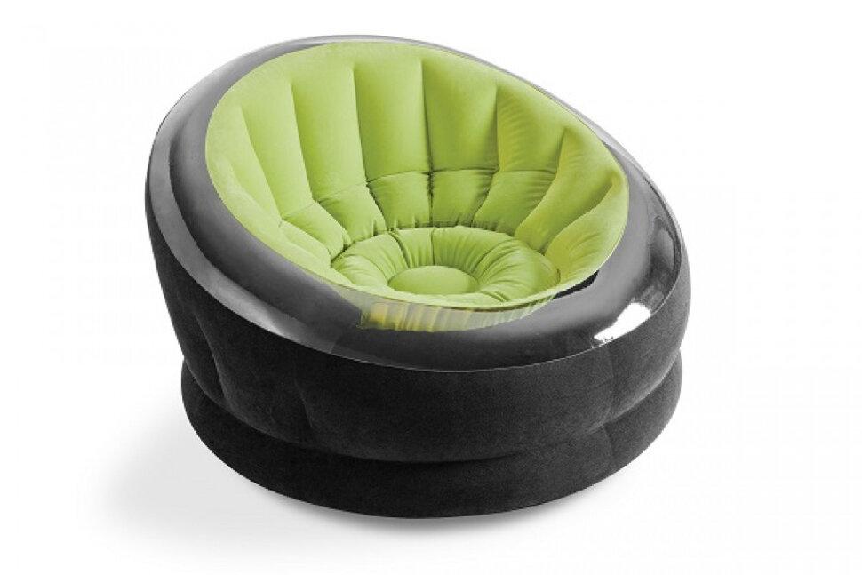 """Надувное кресло """"Empire Chair"""" зеленое INTEX 66581 в Клину"""