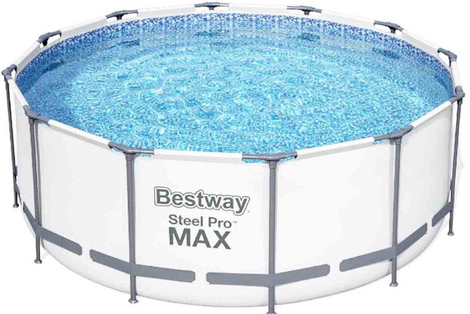 Бассейн каркасный круглый Bestway 56420 + в подарок мячики для игр в бассейне в Перми