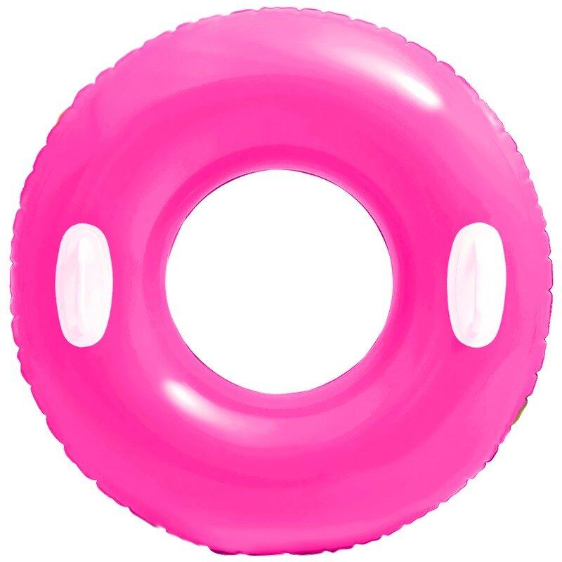 Надувной круг с ручками INTEX 59258 Pink NEON в Уфе