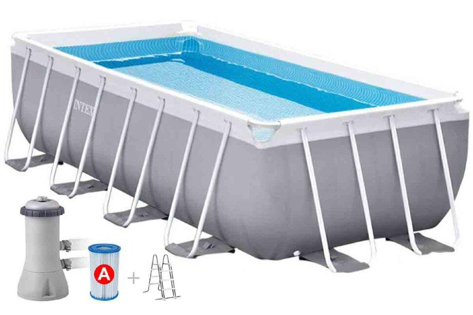 Бассейн каркасный прямоугольный INTEX Ultra Frame PREMIUM 26790 + игровые мячи для бассейна в Калуге