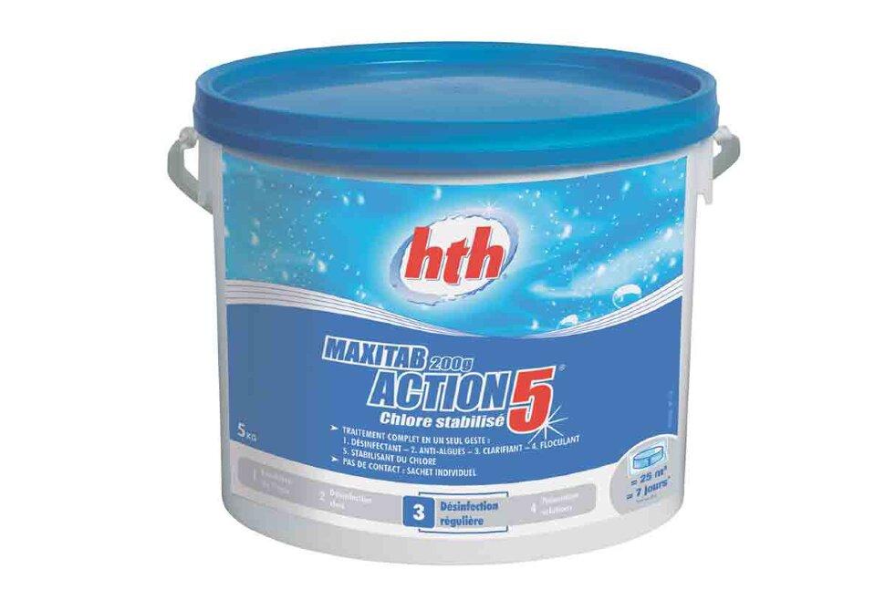 K801778H1 HTH, многофункциональные таблетки 5 в 1 по 200 гр, стабилизированный хлор MAXITAB ACTION, 25 кг. в Ростове-на-Дону